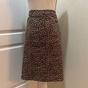 Dana Buchanan Leopard Print Skirt